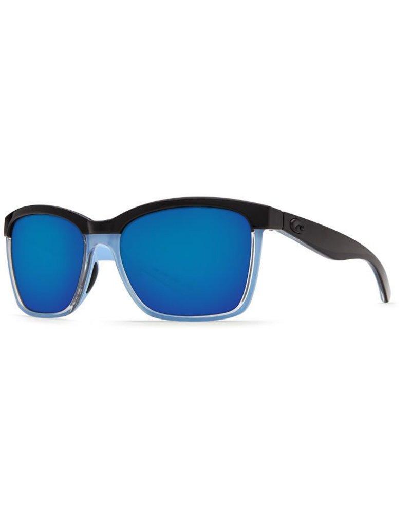 Costa Costa Anaa Blue Mirror 580P Shiny Black/Crystal/Lt Blue