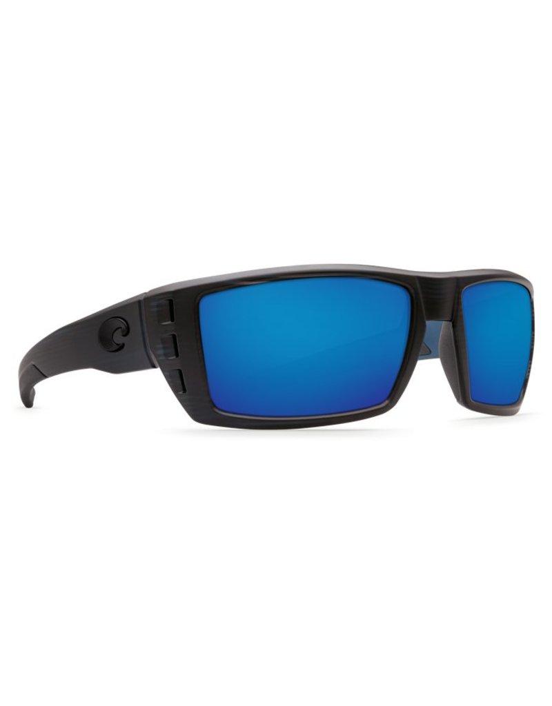 Costa Costa Rafael Blue Mirror 580P Black Teak Frame
