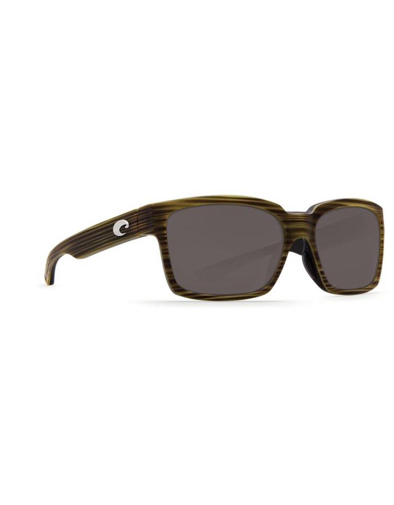 Costa Costa Playa Silver Mirror 580P Matte Verde Teak/Black Frame
