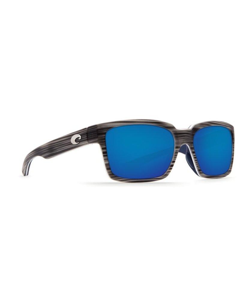 Costa Costa Playa Blue Mirror Glass - W580 Matte Silver Teak/White/Blue Frame