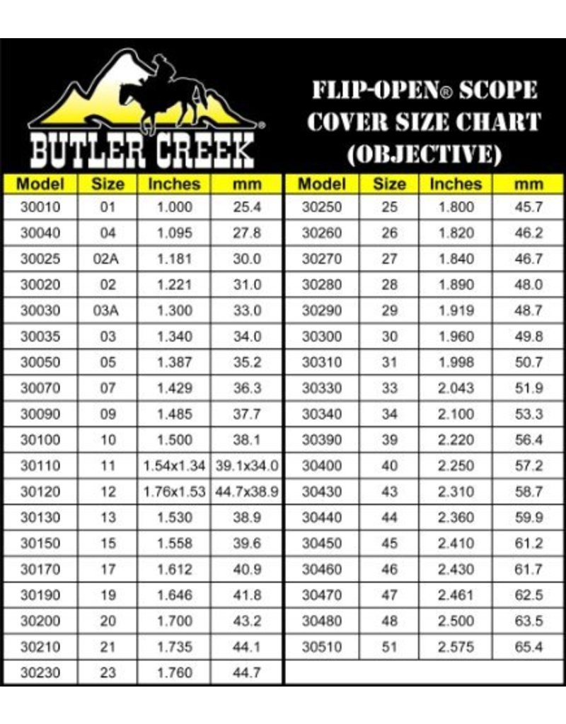 Butler Creek Scope Cover Flip Open Eye 13
