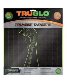 """TruGlo Tru-See Splatter Target Turkey 12""""x12"""" Green 6pk"""