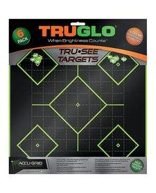 "TruGlo Tru-See Splatter Target 5-Diamond 12""x12"" Green 6pk"