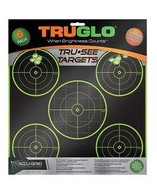 "TruGlo Tru-See Splatter Target 5-Bull 12""x12"" Green 6pk"
