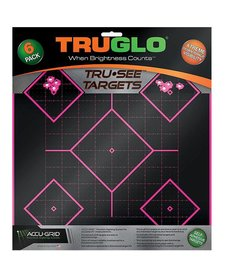 "TruGlo Tru-See Splatter Target 5-Diamond 12""x12"" Pink 6pk"