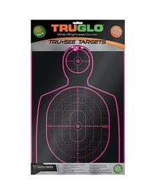 "TruGlo Tru-See Splatter Target Handgun 12""x18"" Pink 6pk"