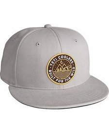 Yeti Outdoor Badge Flat Brim Hat Cool Gray