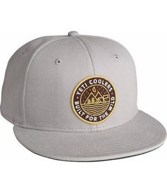 Yeti Yeti Outdoor Badge Flat Brim Hat Cool Gray