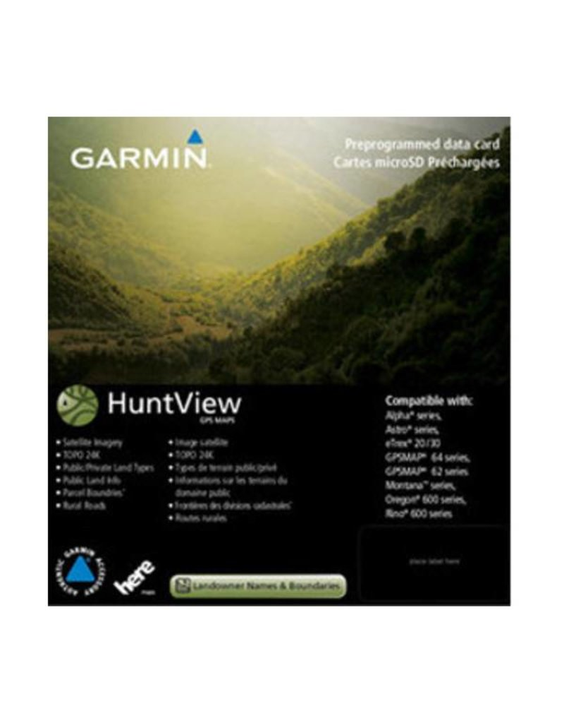 Garmin Hunt View Maps - West Virginia