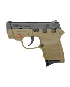 Smith & Wesson M&P Bodyguard 380acp FDE Red CT Laser
