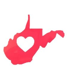 Loving WV Heart Decal