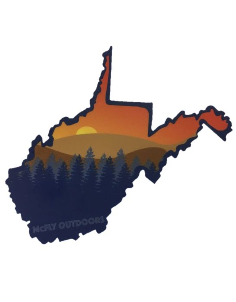 McFly Outdoors WV Sunset Decal