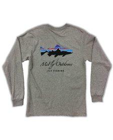 Patagonia Men's L/S Fitz Roy Trout Cotton Tee w/ McFly Logo