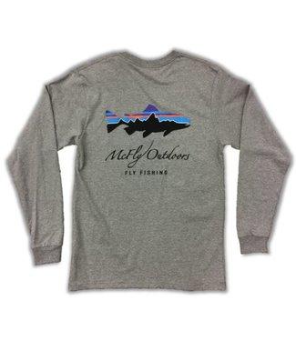 Patagonia Patagonia Men's L/S Fitz Roy Trout Cotton Tee w/ McFly Logo