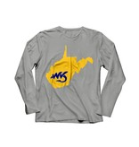 Natives WV Grey/Yellow T-Shirt Long Sleeve