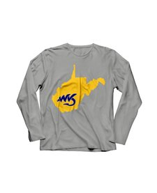 Natives WV Grey/Yellow T-Shirt Long Sleeve