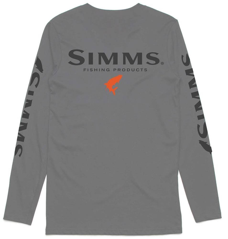Simms Simms Fast Tarpon Logo LS T
