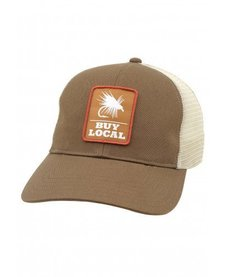 Simms Mens Buy Local Patch Trucker Hat