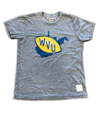Retro Brands WVU State Logo SS Tee