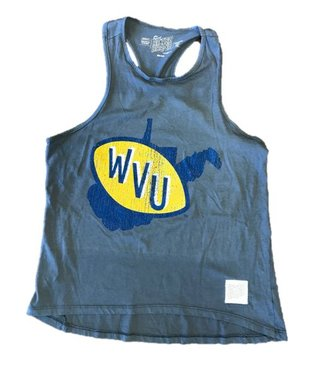 Retro Brands WVU State Logo Muscle Tank