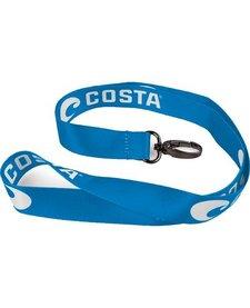Costa Lanyard Costa Blue - White Logo