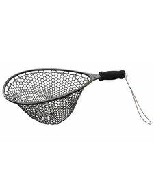 "ProtecNet Rubber Trout Landing Net (15"" x 11.5"" Hoop, 7"" Handle)"