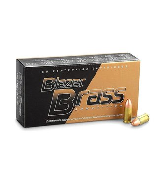 CCI Blazer Brass 9mm Luger 115gr FMJ 50rd