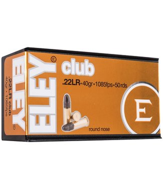 Eley Club 22LR Average Velocity 40gr