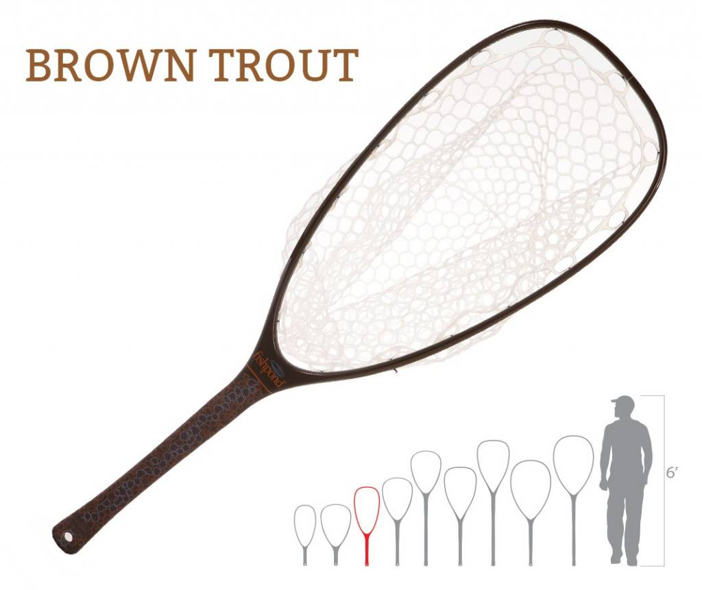Fishpond Fishpond Nomad Emerger Net Brown Trout