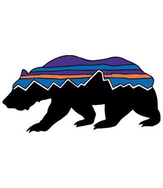 Patagonia Fitz Roy Bear Sticker