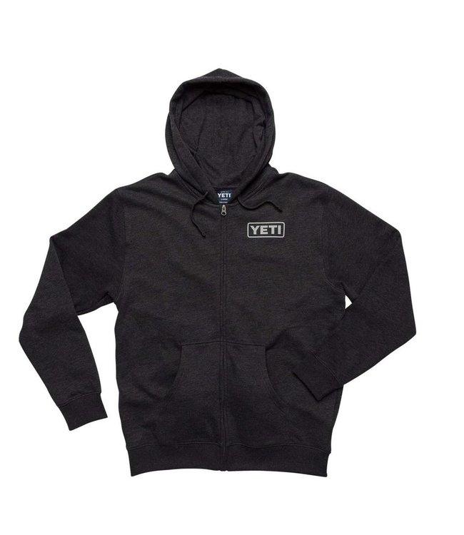 Yeti Yeti Logo Dark Grey Full Zip Hoodie