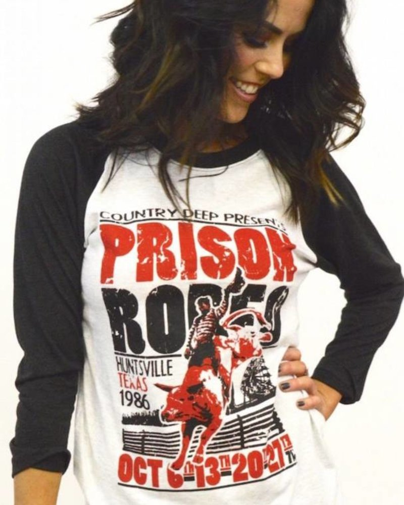 Country Deep Prison Rodeo Raglan
