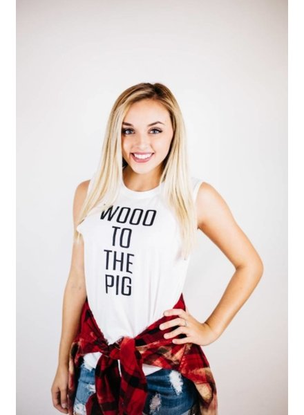 Sibling Rivalry Woo To The Pig Muscle Tee