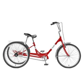 "Sun Bikes Sun Traditional  Trike  Red 24"""