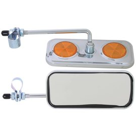 Sunlite Sunlite Rectangular Mirror Chrome Yellow Reflectors