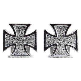 Trik Topz Trik Topz Iron Cross Valve Caps Chrm
