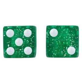 Trik Topz Trik Topz Glitter Dice Valve Caps Grn