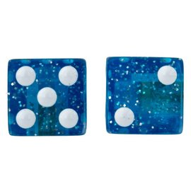 Trik Topz Trik Topz Glitter Dice Valve Caps Blu