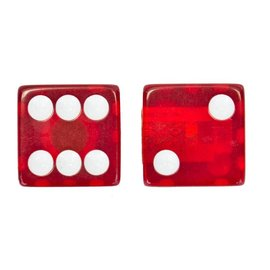 Trik Topz Trik Topz Clear Dice Valve Caps Red