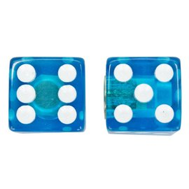 Trik Topz Trik Topz Clear Dice Valve Caps Blu