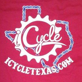 BeefyTee iCycle Texas Shirt Red/Wht