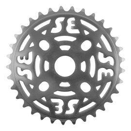 SE Bikes SE One Piece Alloy Chainring 33T 1/8 Alloy Sil