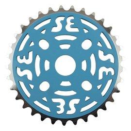 SE Bikes SE One Piece Alloy Chainring 33T 1/8 Alloy Blu