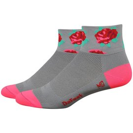 DeFeet DeFeet Aireator Women's Sock Gray/Red Rose Med