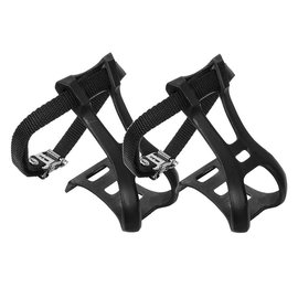 Sunlite Sunlite ATB Toe Clips and Straps Lrg Blk