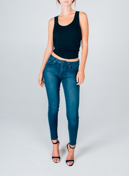 High Rise Dark Denim Skinny Jean