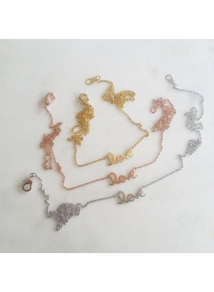 Cursive Love Necklace