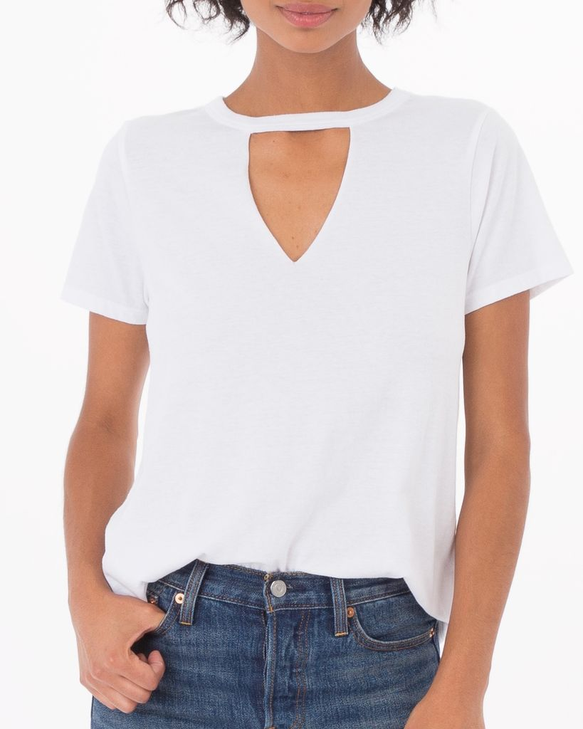 Cut Out Collar Tee
