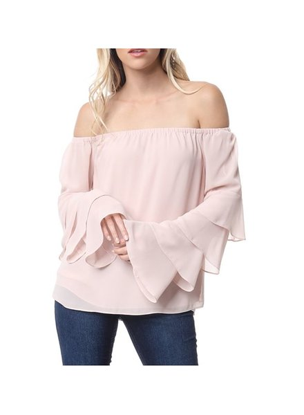 Off the Shoulder Tiered Sleeve