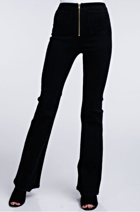 Honey Punch High Waisted Flare Jeans